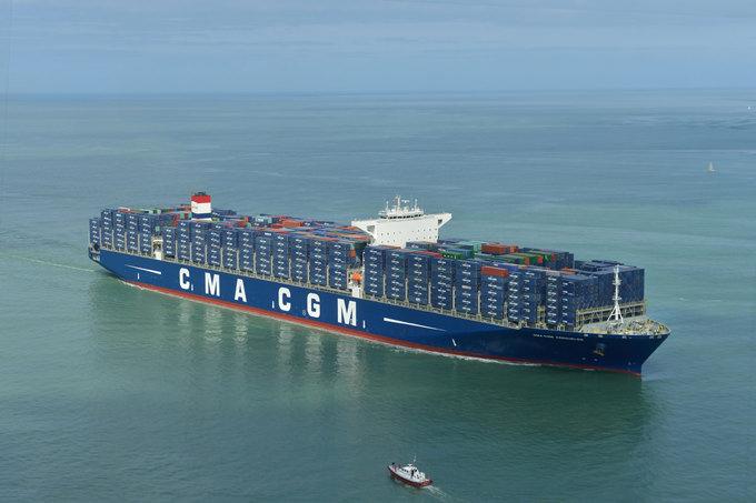 Le cma cgm kerguelen plus grand navire du groupe cma cgm - Le plus grand porte conteneur du monde au havre ...