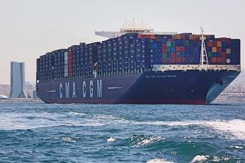 Le cma cgm jules verne plus grand porte conteneurs au - Le plus gros porte conteneur du monde ...